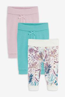 Next 3 Pack Floral Leggings (0mths-2yrs) - 266671