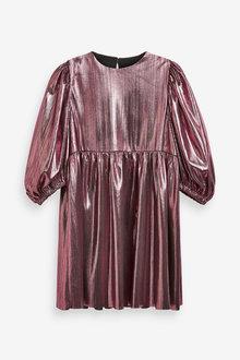 Next Metallic Volume Sleeve Dress (3-16yrs) - 266679