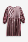 Next Metallic Volume Sleeve Dress (3-16yrs)