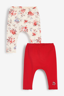 Next 2 Pack Floral Leggings (0mths-2yrs) - 266684