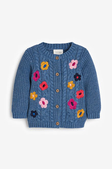 Next Floral Embroidery Cardigan (0mths-2yrs) - 266705