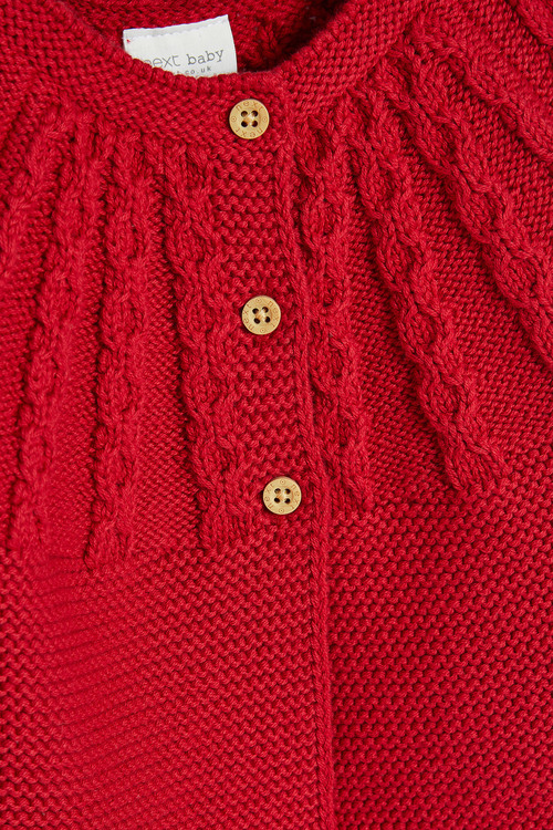 Next Cable Detailed Cardigan (0mths-3yrs)
