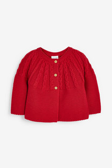 Next Cable Detailed Cardigan (0mths-3yrs) - 266713