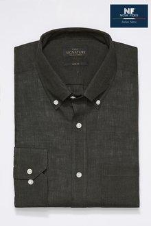 Next Signature Nova Fides Linen Shirt-Slim Fit Single Cuff - 266723