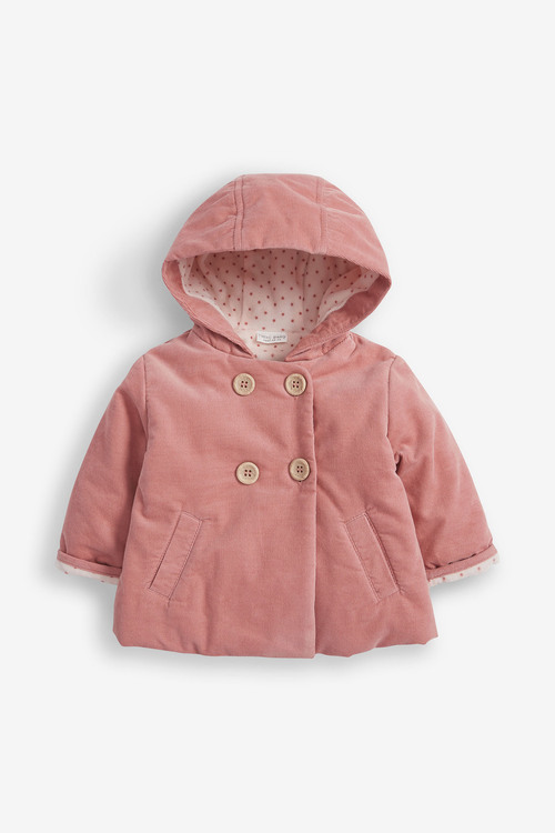 Next Corded Hooded Jacket With Fleece Lining (0mths-2yrs)
