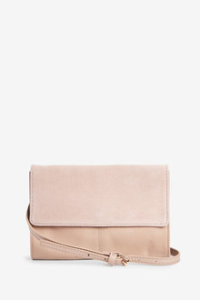 Next Leather Suede Mix Across Body Bag - 266738