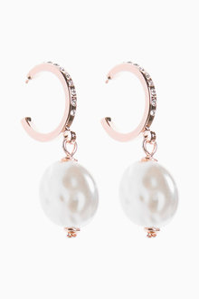 Next Pave Pearl Effect Earrings - 266784