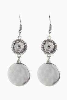 Next Hammered Effect Sparkle Earrings - 266786