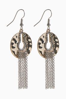 Next Metal Fringe Drop Earrings - 266787