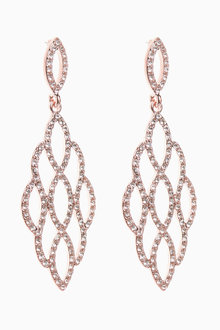 Next Pave Filligree Drop Earrings - 266793