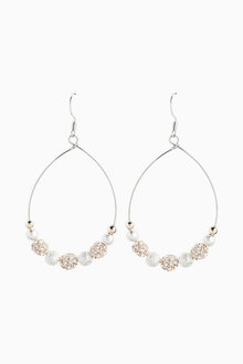 Next Pave Ball Drop Earrings - 266798