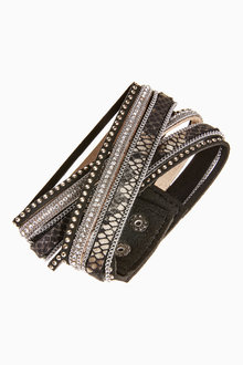 Next Multi Layer Sparkle Wrap Bracelet - 266815
