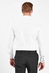 Next Floral Contrast Trim Shirt-Regular Fit Single Cuff