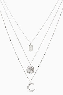 Next Moon and Star Multi Layer Necklace - 266828