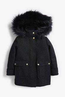 Next Sparkle Faux Fur Coat (3-16yrs) - 266843
