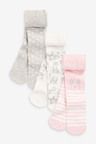 Next 3 Pack Character Tights (0mths-2yrs)