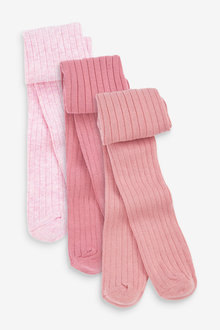Next 3 Pack Ribbed Tights (0mths-2yrs) - 266850