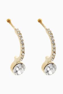 Next Sparkle Drop Hoop Earrings - 266871