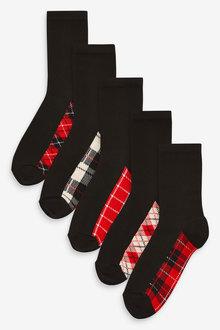 Next Footbed Ankle Socks Five Pack - 266894