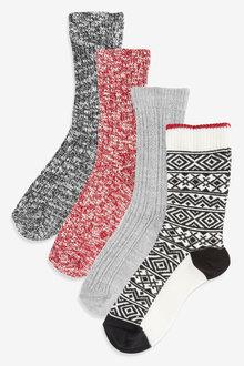 Next Boot Socks 4 Pack - 266898