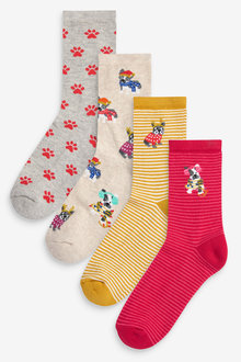 Next Frenchie Cushion Sole Ankle Socks Four Pack - 266930