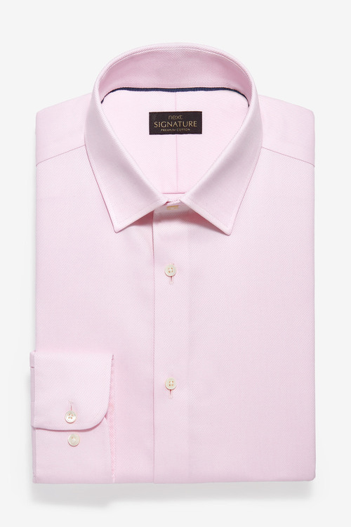 Next Non-Iron Egyptian Cotton Stretch Signature Shirt-Slim Fit Single