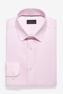 Next Non-Iron Egyptian Cotton Stretch Signature Shirt-Slim Fit Single - 266954
