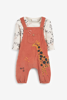 Next Cord Dungarees And Bodysuit Set (0mths-2yrs) - 266955
