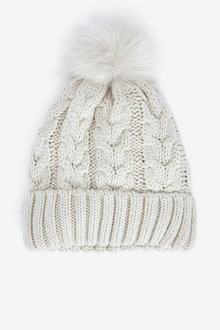 Next Cable Knit Pom Hat - 266957