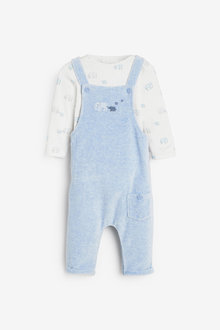Next Velour Dungarees And Bodysuit Set (0mths-2yrs) - 266972