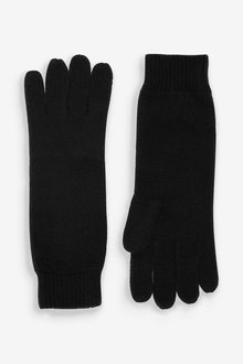 Next Ribbed Cashmere Gloves - 266974