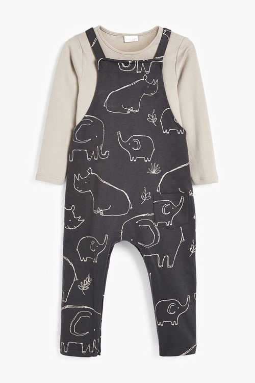 Next Jersey Dungarees And Bodysuit Set (0mths-2yrs)