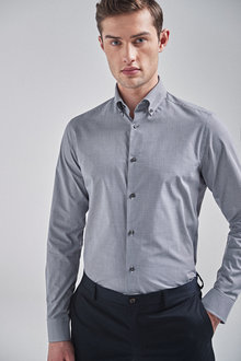 Next Check And Texture Shirts Three Pack-Slim Fit Single Cuff - 266988