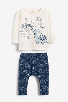 Next Dinosaur T-Shirt And Legging Two Piece Set (0mths-3yrs) - 267008