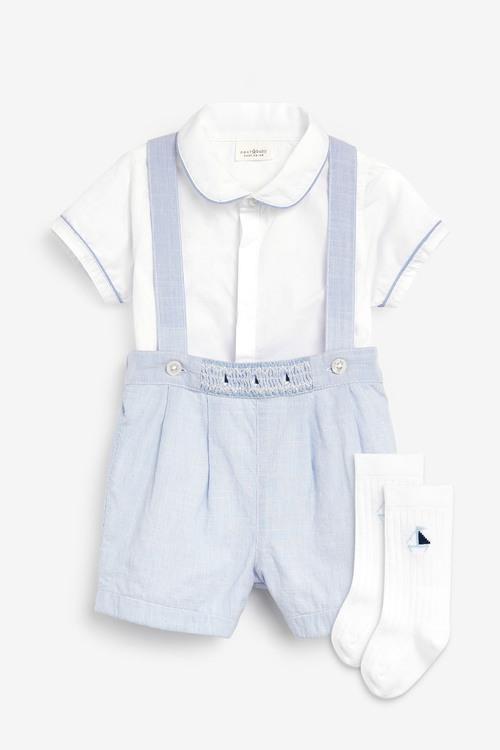Next Smart Shirt Bodysuit, Shorts And Sock Set (0mths-2yrs)