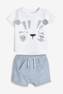 Next Tiger Applique T-Shirt And Shorts Set (0mths-3yrs) - 267025