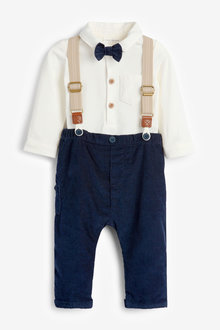 Next Smart Four Piece Shirt Body, Bow Tie, Trousers And Braces Set - 267054