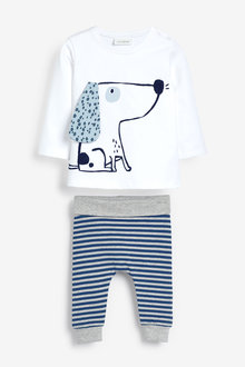 Next GOTS Organic Stretch T-Shirt And Leggings Set (0mths-3yrs) - 267058