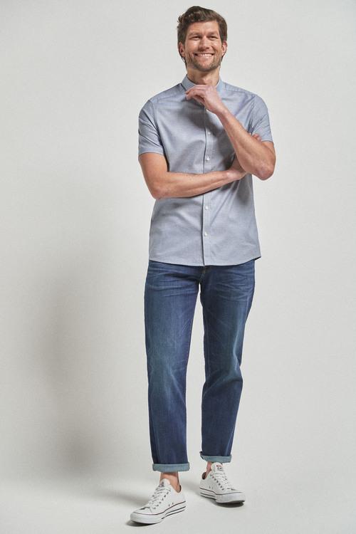 Next Short Sleeve Stretch Oxford Shirt