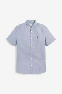 Next Short Sleeve Stretch Oxford Shirt - 267067