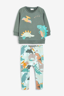 Next Applique Sweat Shirt And Stretch Leggings Set (0mths-2yrs) - 267074