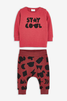 Next T-Shirt And Jogger Slogan Set (0mths-3yrs) - 267078