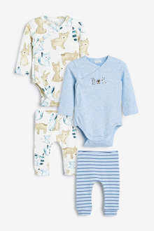Next 4 Pack Bodysuit And Leggings Set (0mths-2yrs) - 267082