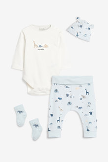 Next 4 Piece Bodysuit, Legging, Hat And Sock Set (0mths-2yrs) - 267084