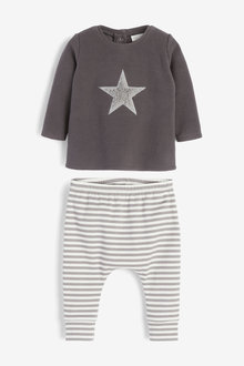 Next Cosy Fleece Star Jumper And Legging Set (0mths-2yrs) - 267104
