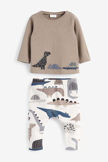 Next T-Shirt And Legging Set With Stretch (0mths-2yrs) - 267106