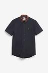 Next Stretch Oxford Contrast Collar Shirt