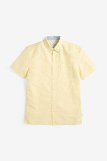 Next Linen Rich Short Sleeve Shirt - 267110