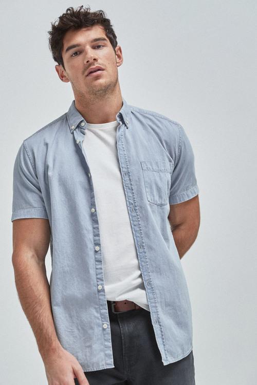 Next Denim Shirt-Slim Fit