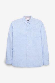 Next Cotton Linen Rich Roll Sleeve Shirt - 267127